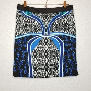Laundry By Shelli Segal Mixed Print Pencil Skirt